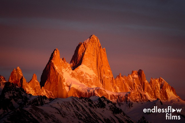 Fitz Roy and Poincenot, Argentina. The best sunset ever!